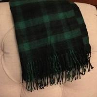 GAP Accessories | Green And Black Plaid Scarf | Poshmark