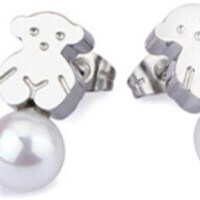 80% off Tous Jewelry - TOUS PEARL PLATINUM PLATED EARRINGS ...