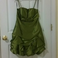 46% off aria Dresses & Skirts - olive green prom dress ...