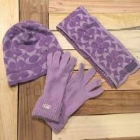 52% off Coach Accessories - Coach Hat Gloves and Scarf Set ...