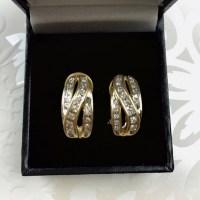 14K Diamond Omega Clip Earrings OS from Emma's closet on ...