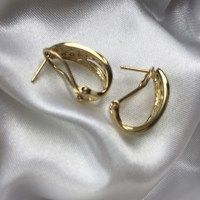 14K Diamond Omega Clip Earrings OS from Emma's closet on ...