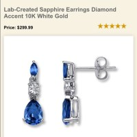 53% off Jared Jewelry - Sapphire earrings w diamond accent ...