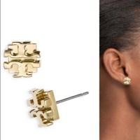 Tory Burch Jewelry   Small Logo Stud Earrings In Gold ...