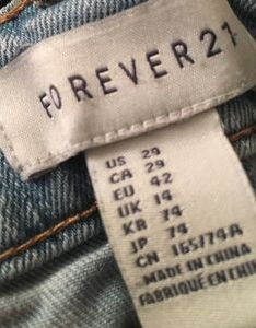 Blue jeans from forever size on sale also women   chart poshmark rh