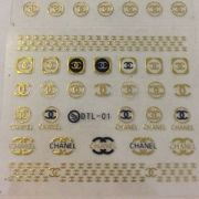chanel makeup nail art stickers