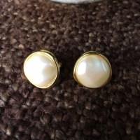 71% off Monet Jewelry - Monet Pearl Disk Clip On Earrings ...
