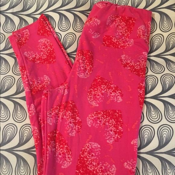 LuLaRoe Lularoe One Size Valentines Day Leggings From