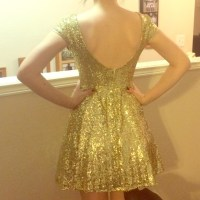 57% off B. Darlin Dresses & Skirts - Gold Sequin ...