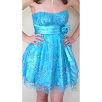 50% off Deb Dresses & Skirts - Size 3/4 blue sparkly ...