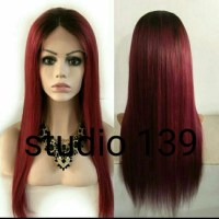 43% off Accessories - Ombre straight lace front wig j99/1b ...