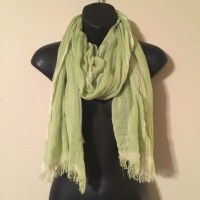 Bright Light Green Scarf