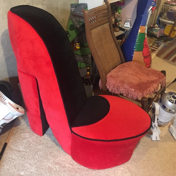red heel chair plastic folding lounge outdoor other high poshmark