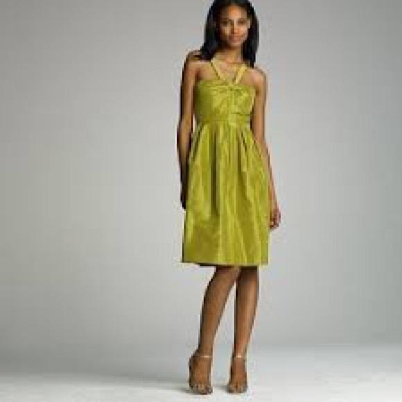 J Crew Dresses  Nwt Silk Taffeta Halter Sangl Dress