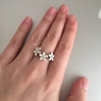 Pandora - Authentic Pandora triple daisy ring 50/5 from ...