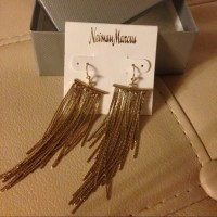 Neiman Marcus - Neiman Marcus Gold Fringe Earrings from ...