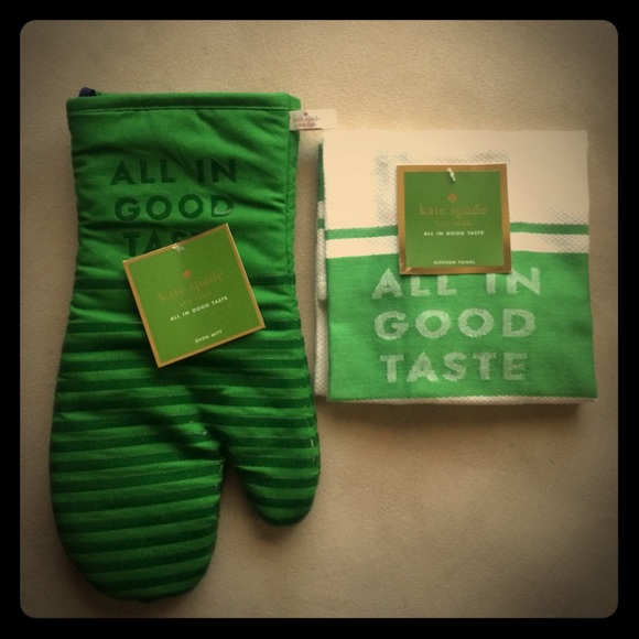 kate spade kitchen aid gas cooktop accessories towel and oven mitt poshmark