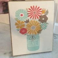 Teal Mason Jar Wall Art with Burlap Frame OS from Miesha's ...