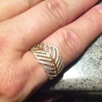 67% off Pandora Jewelry - Pandora rose gold leaf ring from ...