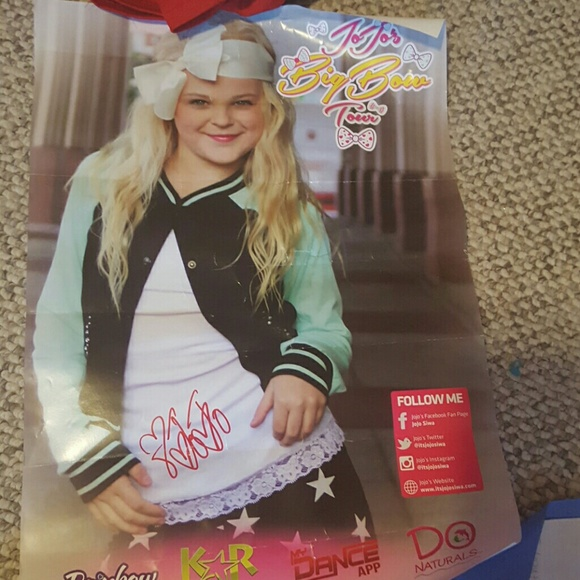 33 Off JoJo Siwa Other JoJo Siwa Signed Poster From