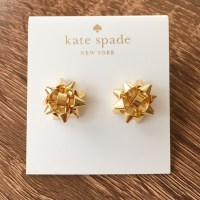 kate spade - Kate spade bourgeois gold gift bow earrings ...