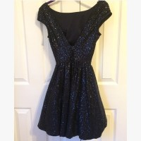 57% off B. Darlin Dresses & Skirts - Open-Back Navy ...