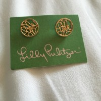 Lilly Pulitzer - Lilly Pulitzer Logo Earrings from Mary ...