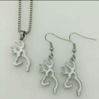 Browning - Browning deer earrings and necklace set so cute ...