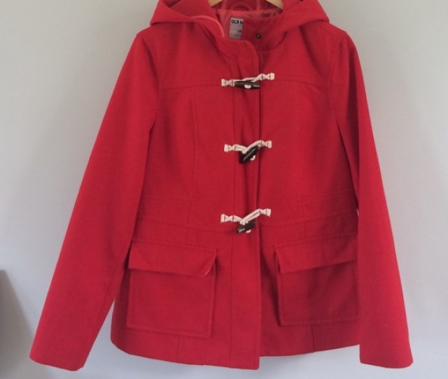 F0 9f 8d 81sale Red Toggle Hooded Peacoat
