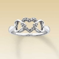 53% off Kay Jewelers Jewelry - 10K White Gold 3 Heart ...