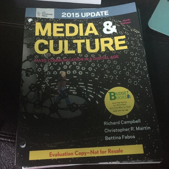 Textbook Other Media Culture Mass Communication In Digital Age