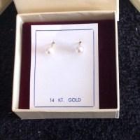 67% off Zales Jewelry - Genuine 14 KT Gold pearl earrings ...