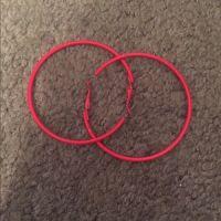 70% off Jewelry - Bundle of hoop earrings pink and neon ...