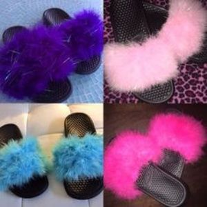29 off Nike Shoes  Furry Nike Slides from Latorias