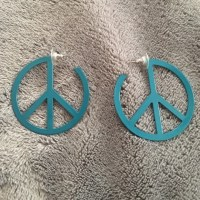 Peace sign hoop earrings OS from **kirsten's closet on
