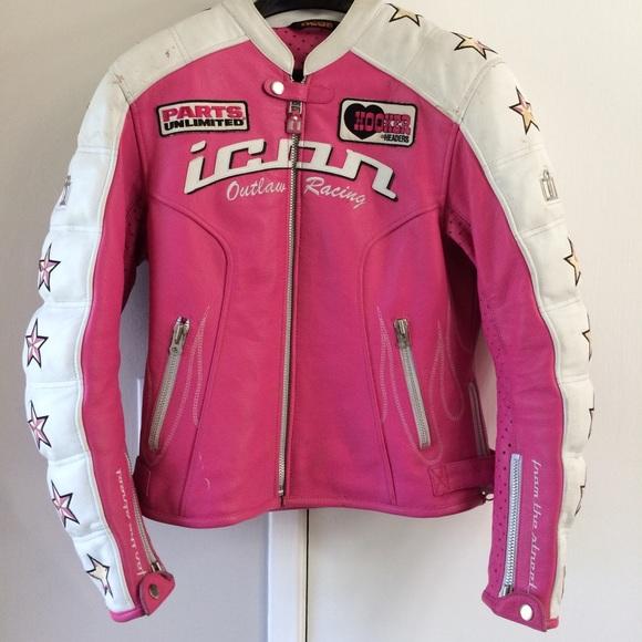 392a1aaf3b37 Icon Jackets Coats Womens Kitty Leather Motorcycle Jacket Poshmark