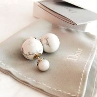 Purrluxe - Mise en Dior Tribal Double Pearl Earrings from ...