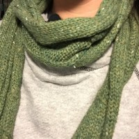 75% off Old Navy Accessories - Green winter knit scarf ...