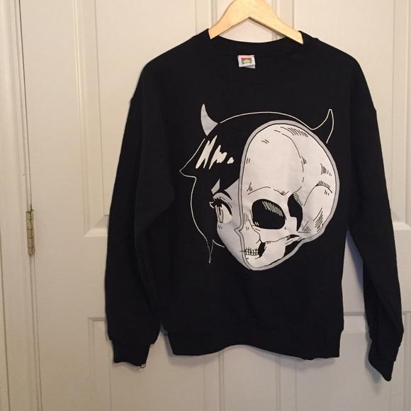 skullgirl anime sweater by