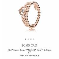 Pandora Jewelry   Rose Gold Princess Ring   Poshmark