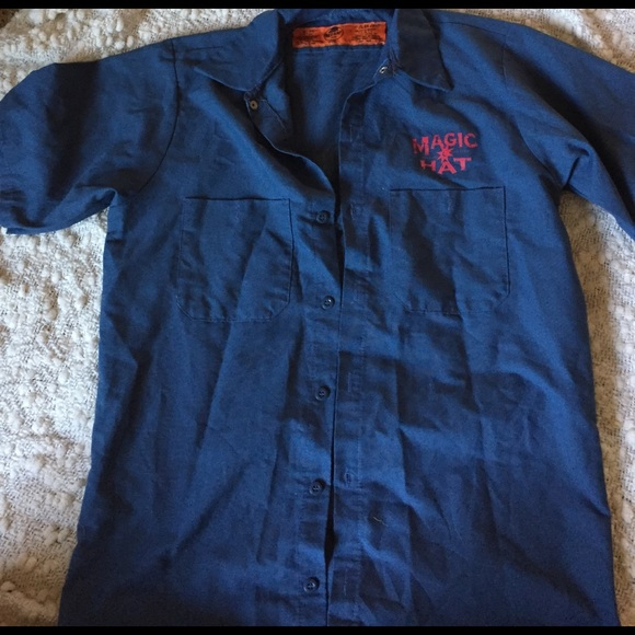 28 off magic hat Other Mens Magic Hat Beer Button Up