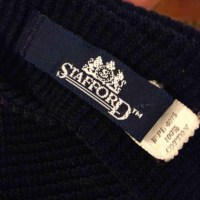Stafford - Stafford Solid Navy Knit Tie Cotton Tie from ...