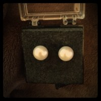 97% off Jewelry - Genuine Pearl Stud Earrings 7 or 8mm ...