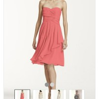 David'S Bridal Coral Reef Bridesmaid Dresses - Flower Girl ...