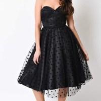 ModCloth - NWOT Unique Vintage Black Dot prom dress from ...