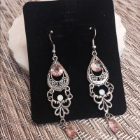 MEMORIAL DAY SALE! Blush chandelier earrings OS from Sarah ...