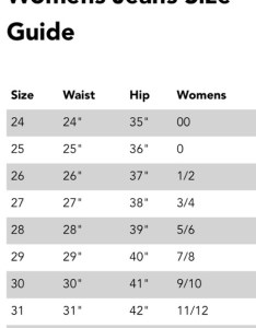 Size chart for miss me sang real jeans also women   jean on poshmark rh