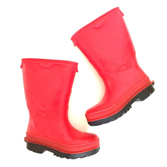 50 off Other Toddlers red and black rubber rain boots 6