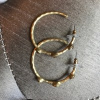 60% off Jewelry - Gold hoop earrings with three yellow ...
