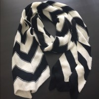 60% off Accessories - Black and white knit style scarf ...